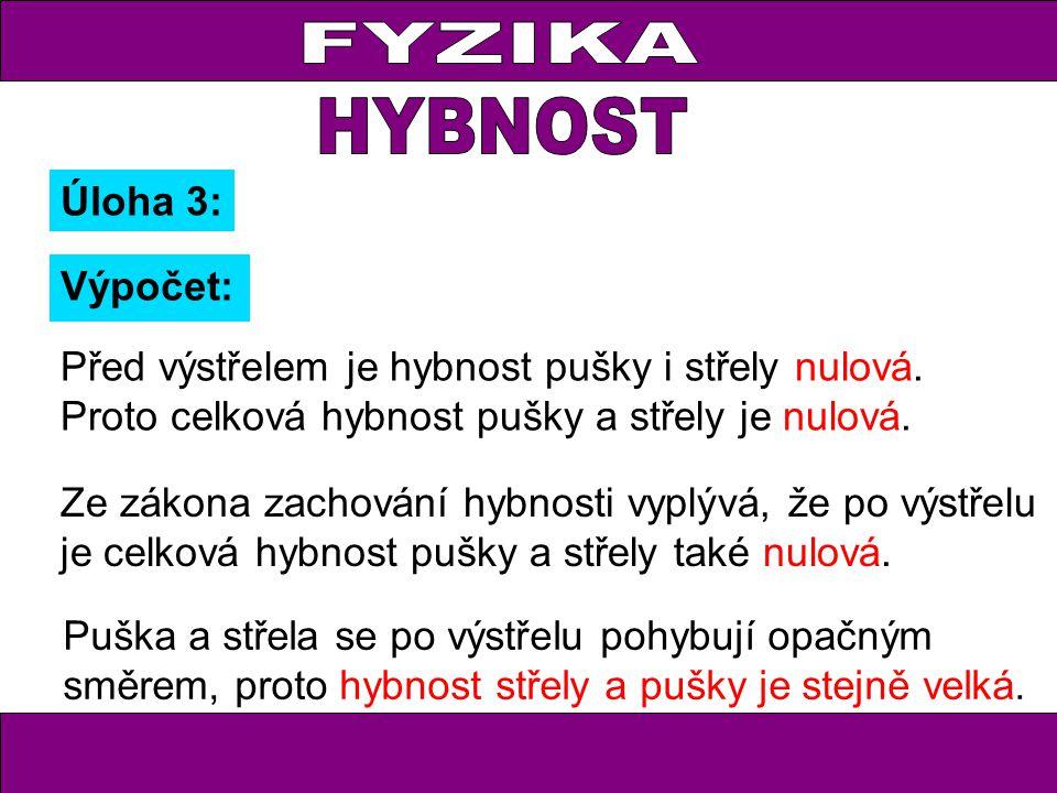 FYZIKA HYBNOST Úloha 3: Výpočet: