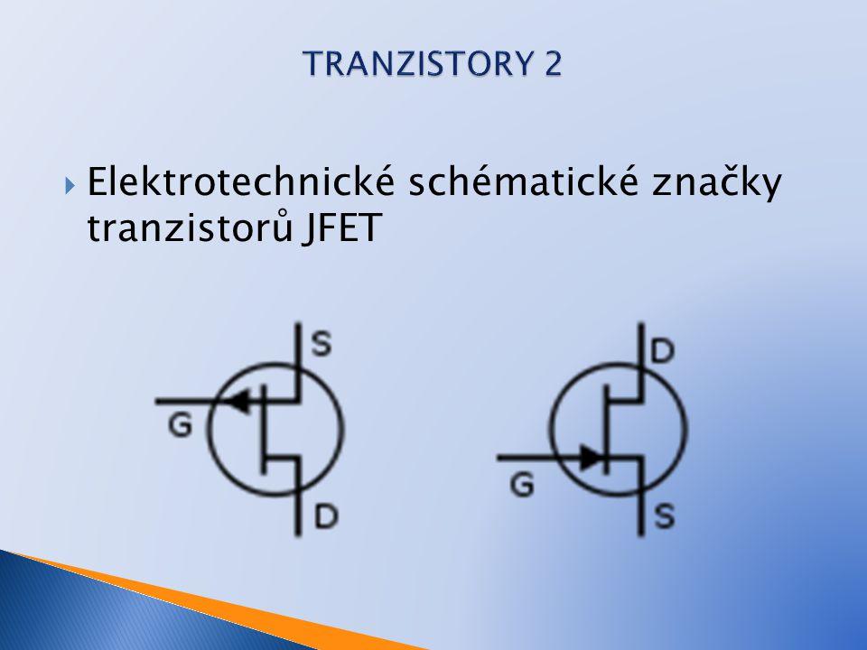 Elektrotechnické schématické značky tranzistorů JFET