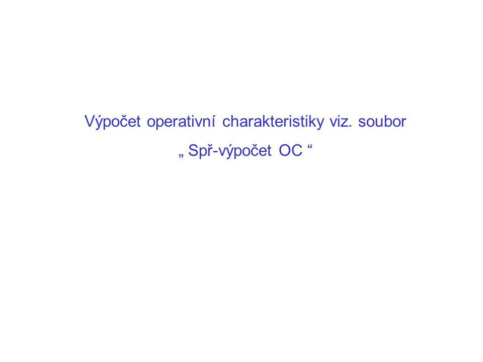 Výpočet operativní charakteristiky viz. soubor