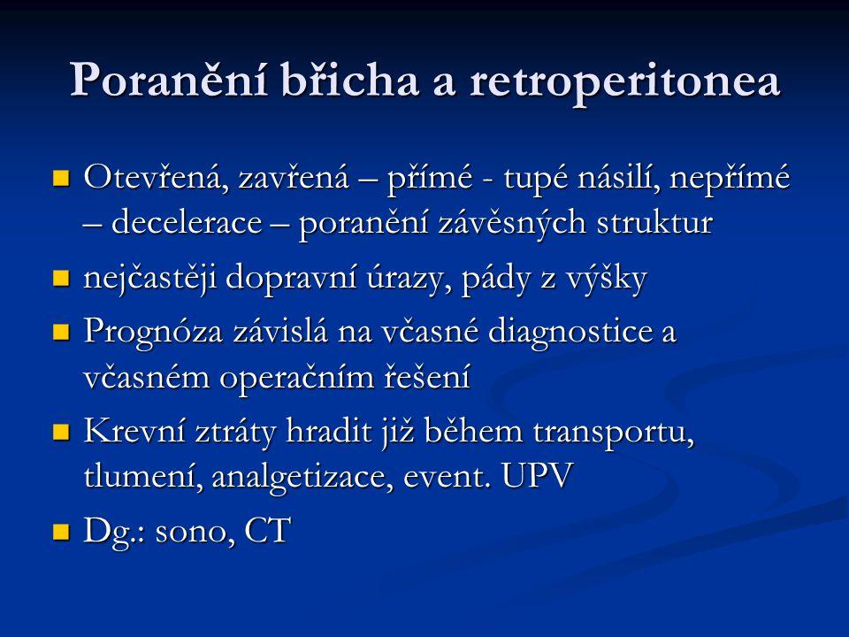 Poranění břicha a retroperitonea