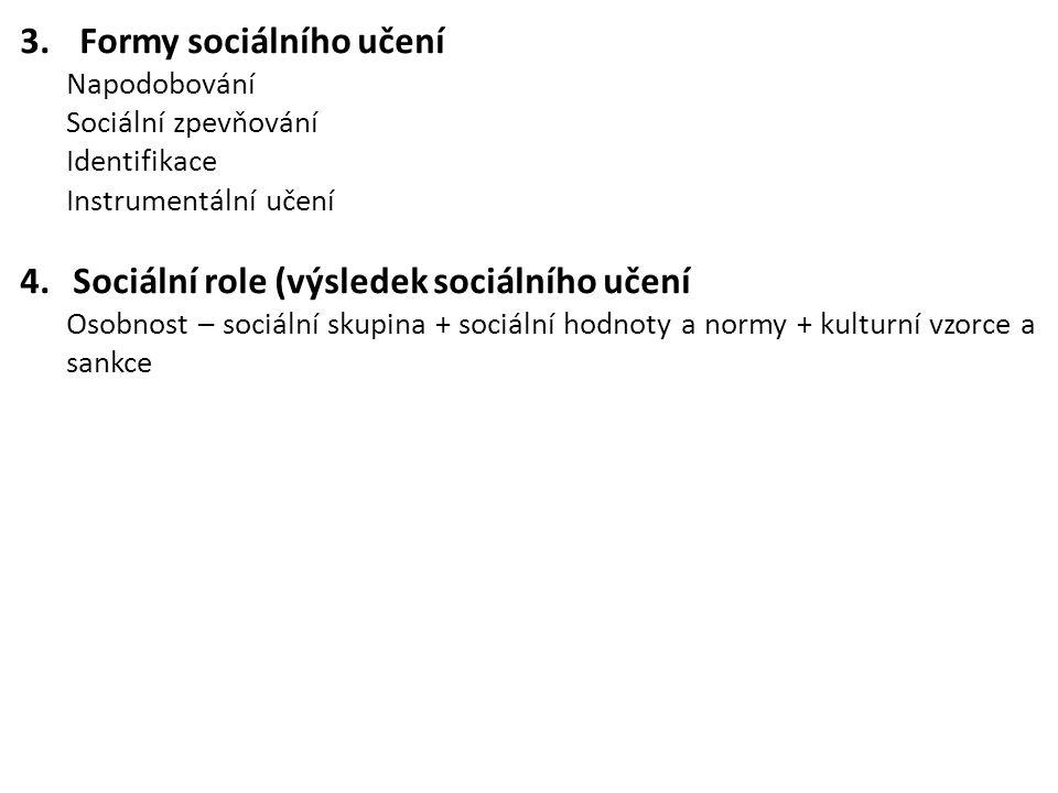 Formy sociálního učení