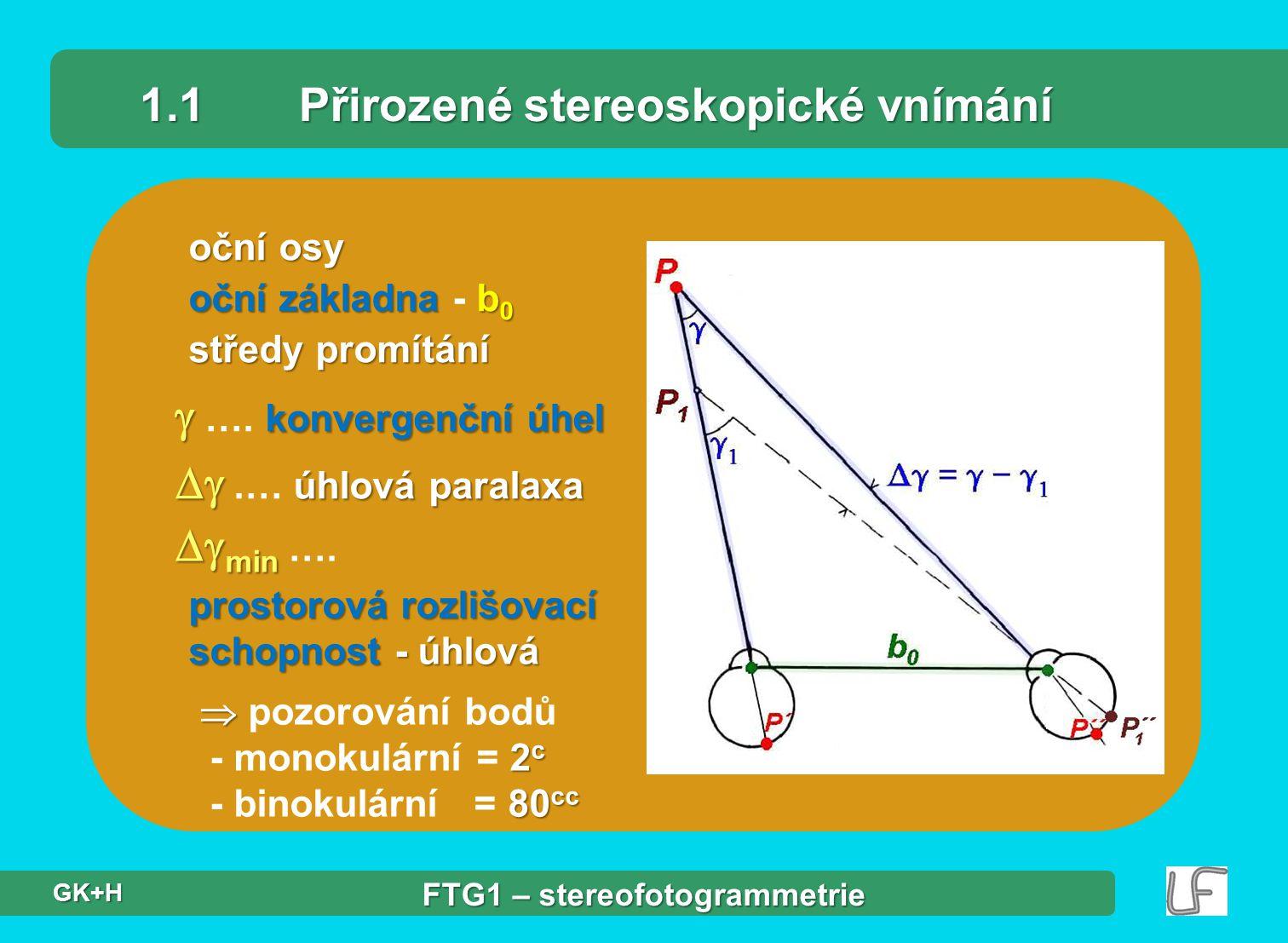 1.1 Přirozené stereoskopické vnímání