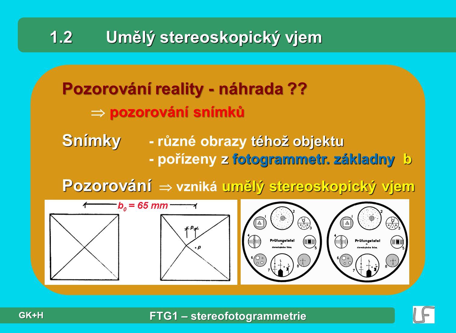 1.2 Umělý stereoskopický vjem