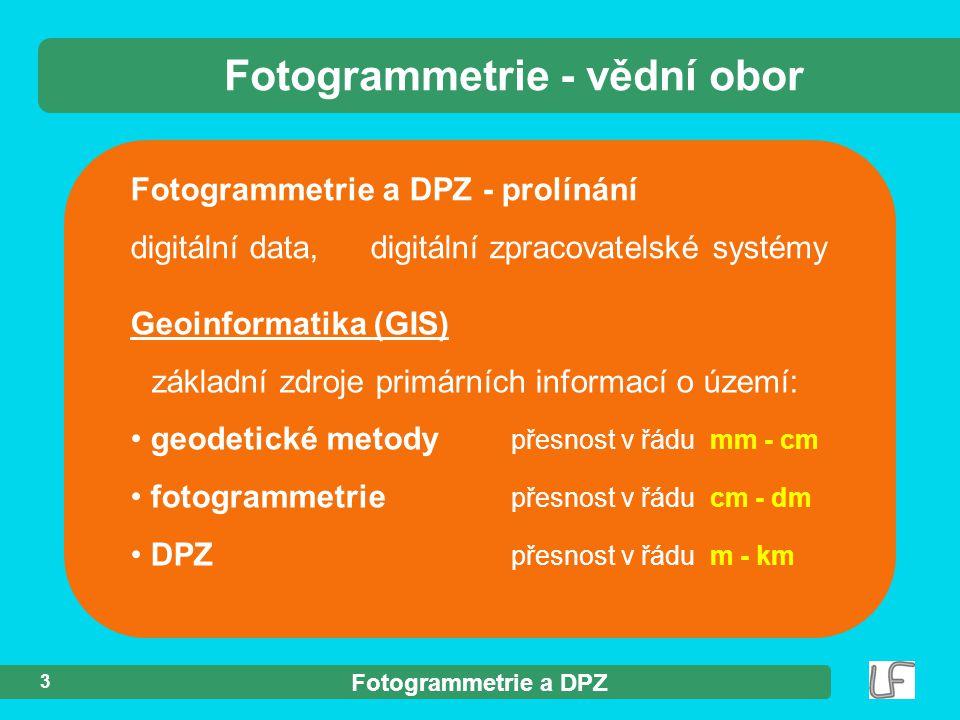 Fotogrammetrie - vědní obor