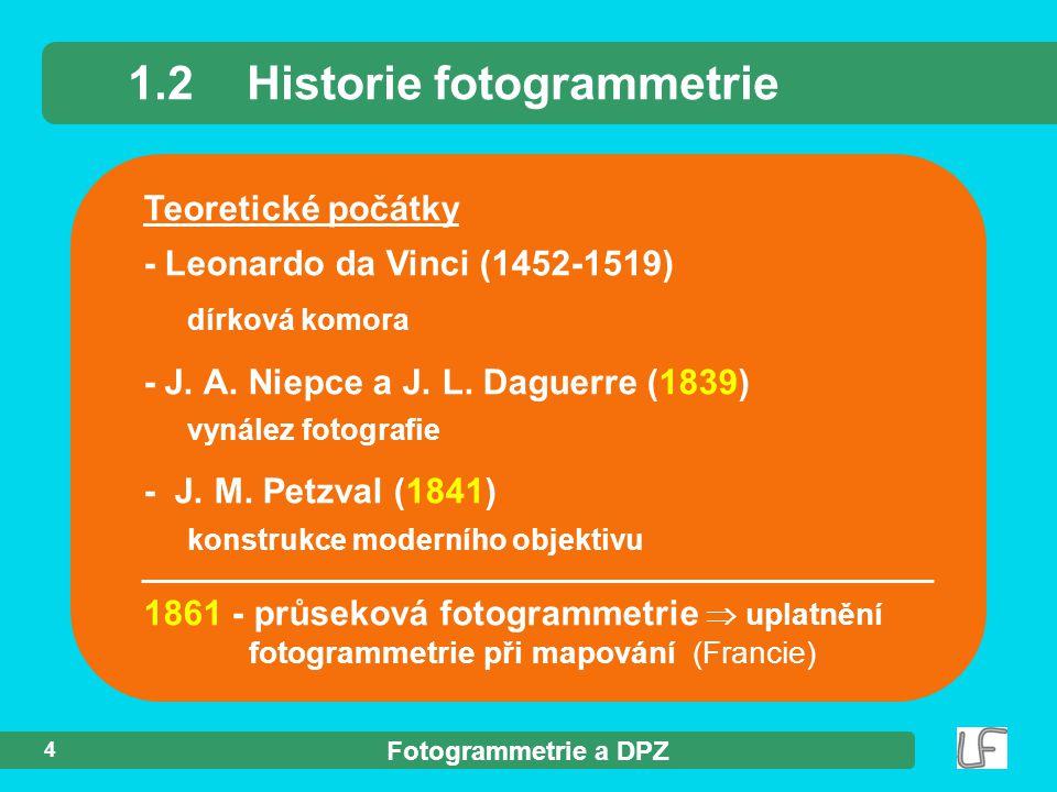1.2 Historie fotogrammetrie