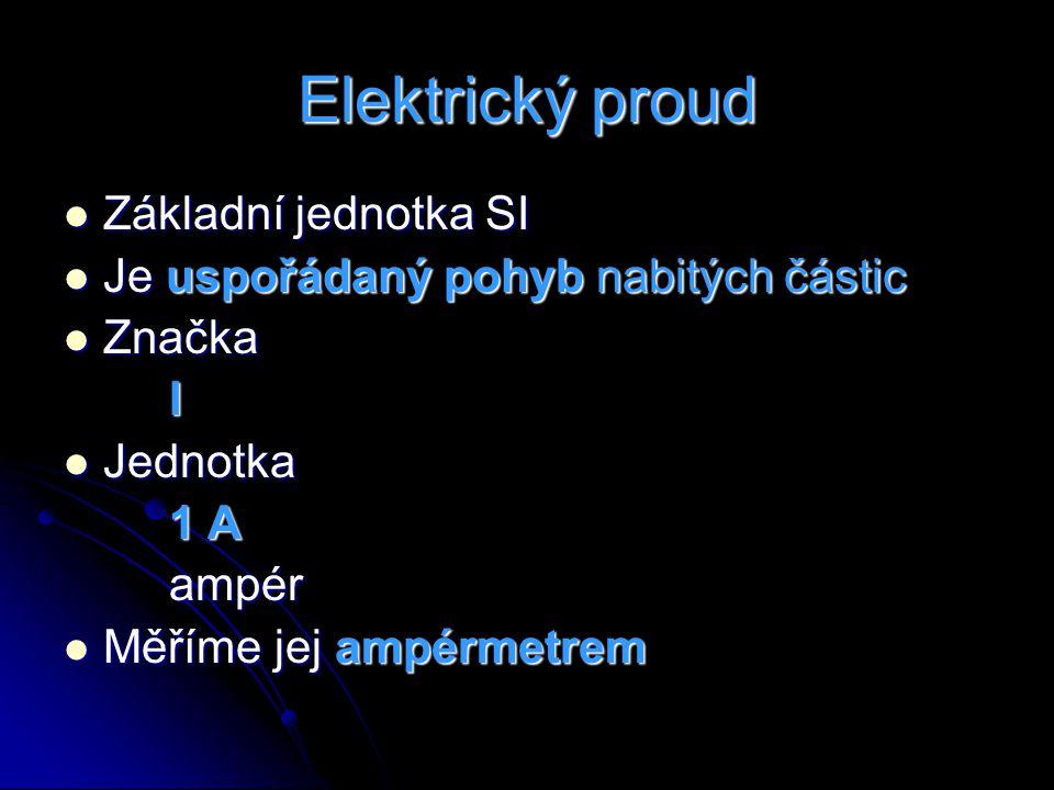 Elektrický proud Základní jednotka SI