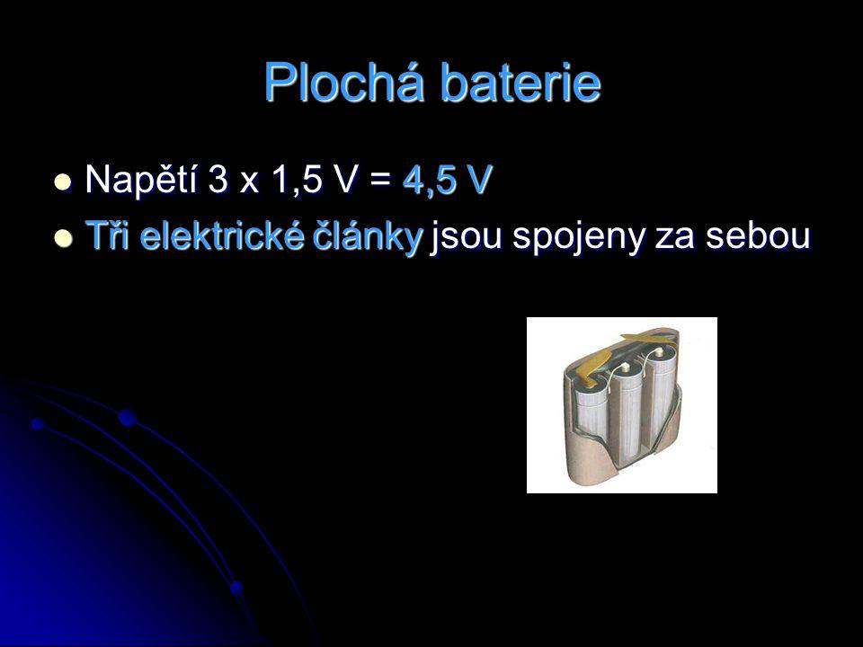 Plochá baterie Napětí 3 x 1,5 V = 4,5 V