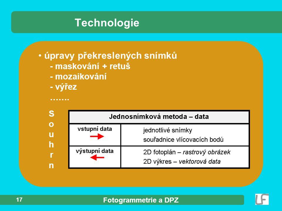 Technologie úpravy překreslených snímků - maskování + retuš - mozaikování - výřez …….