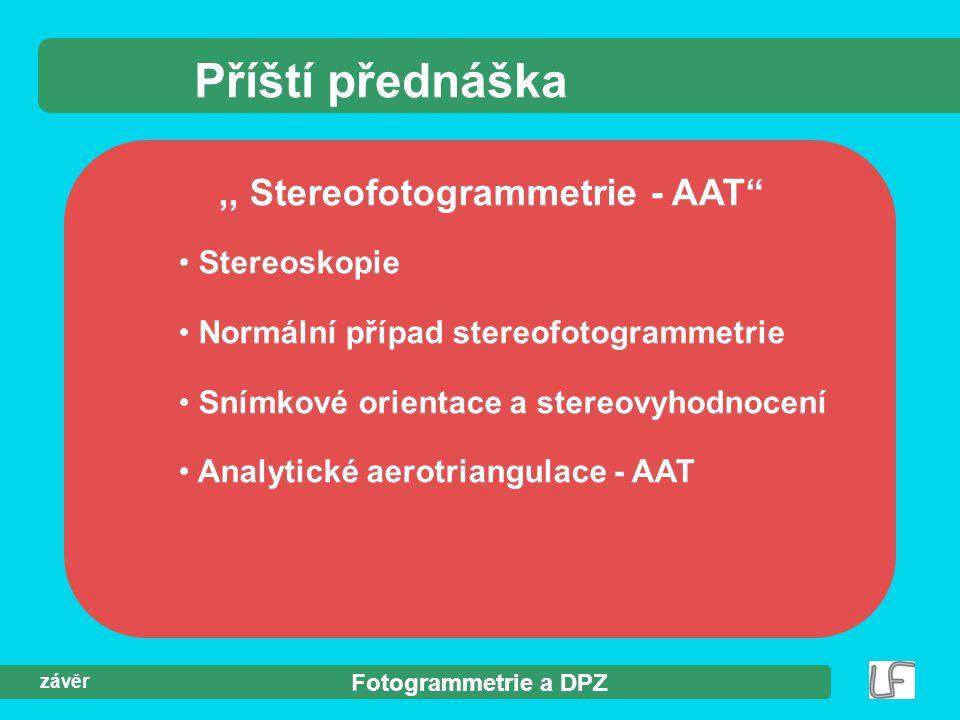 ,, Stereofotogrammetrie - AAT