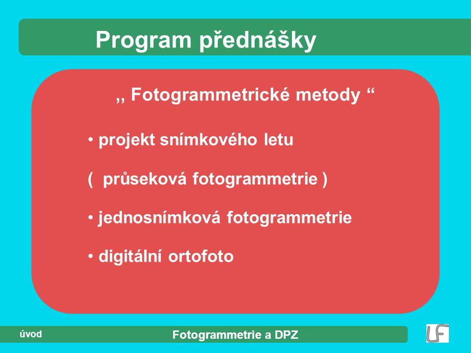 ,, Fotogrammetrické metody