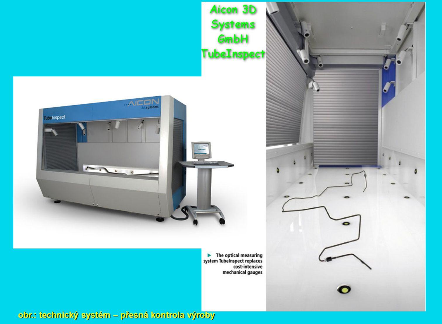 obr.: technický systém – přesná kontrola výroby