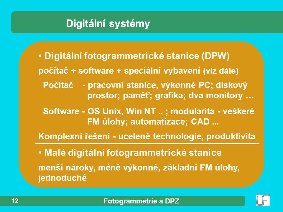 Digitální systémy Digitální systémy