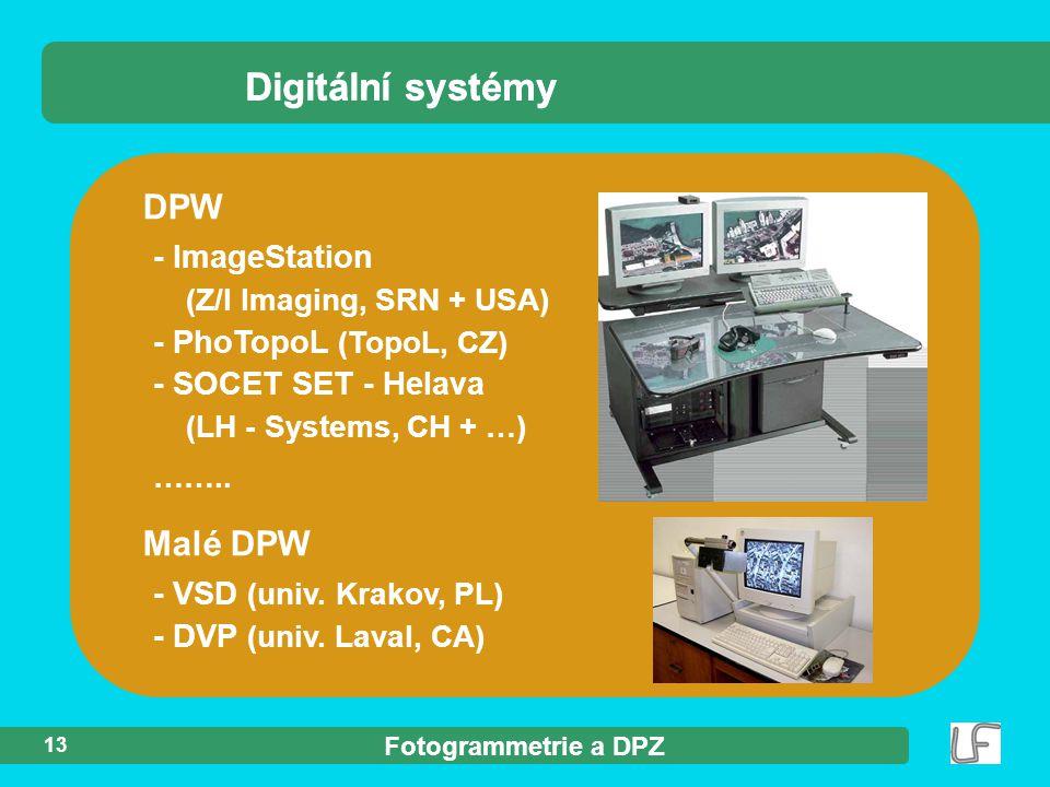 Digitální systémy Digitální systémy DPW Malé DPW