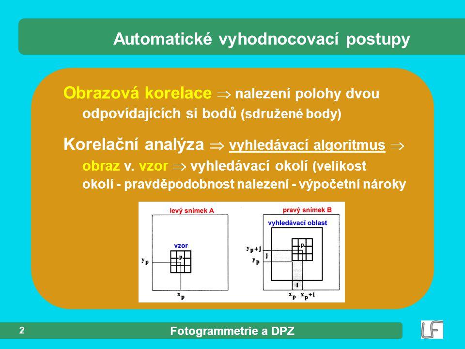 Automatické vyhodnocovací postupy