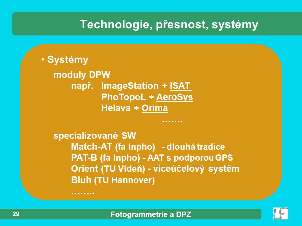 Technologie, přesnost, systémy