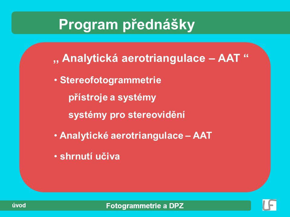 ,, Analytická aerotriangulace – AAT
