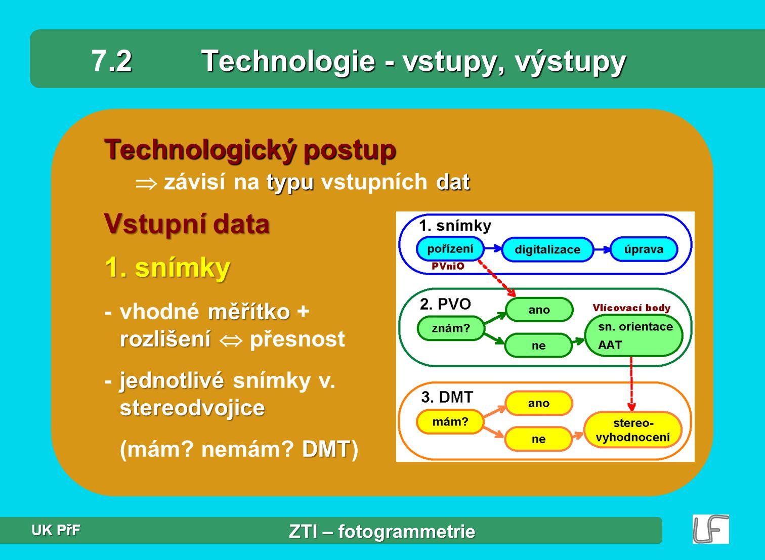 7.2 Technologie - vstupy, výstupy