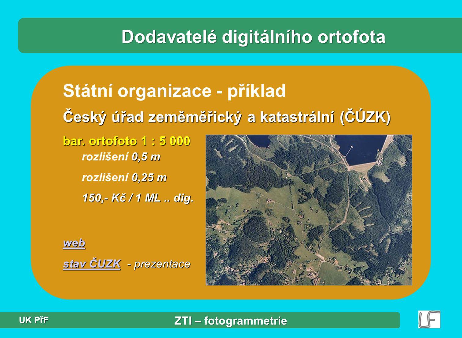 Dodavatelé digitálního ortofota