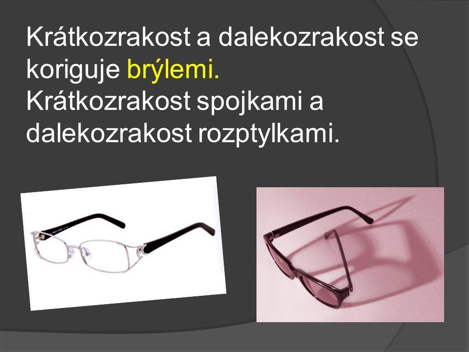 Krátkozrakost a dalekozrakost se koriguje brýlemi