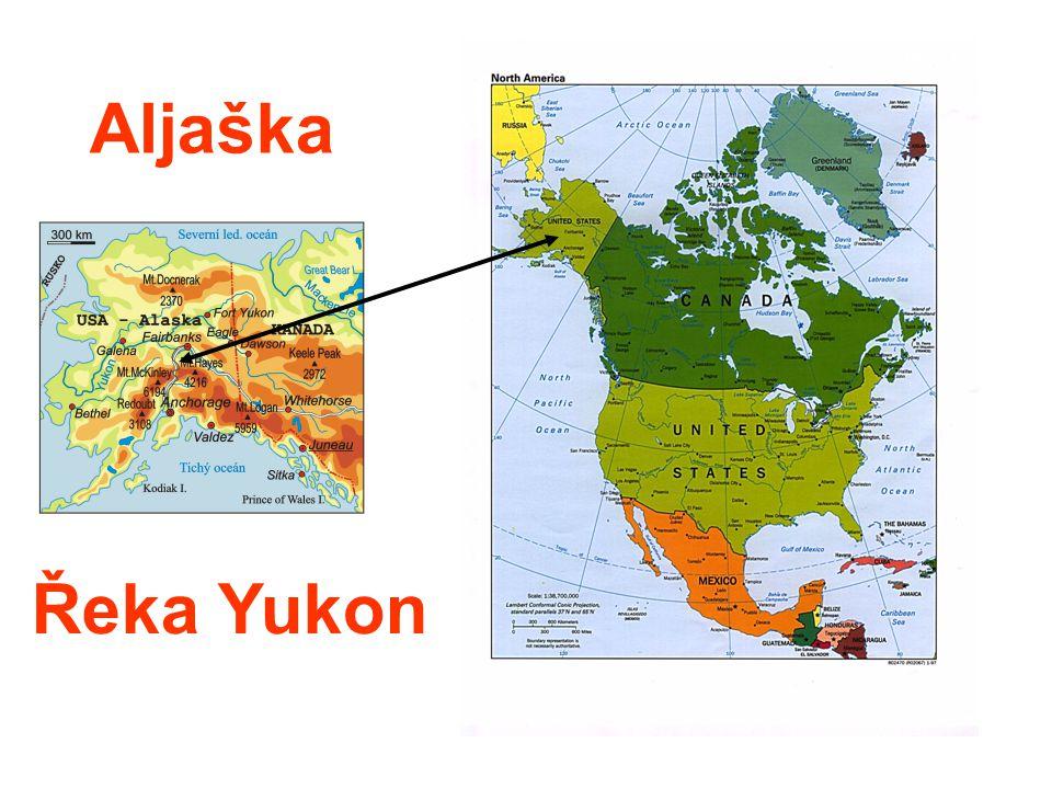 Aljaška Řeka Yukon
