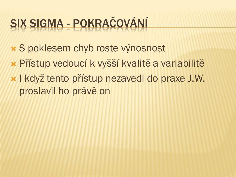 SIX SIGMA - POKRAČOVÁNÍ