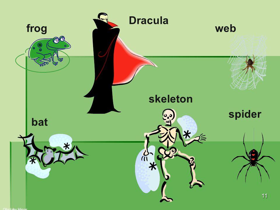Dracula frog web skeleton spider bat Obrázky:klipar
