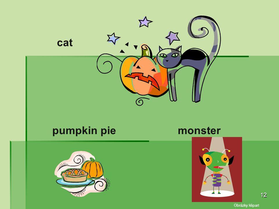 cat pumpkin pie monster Obrázky:klipart