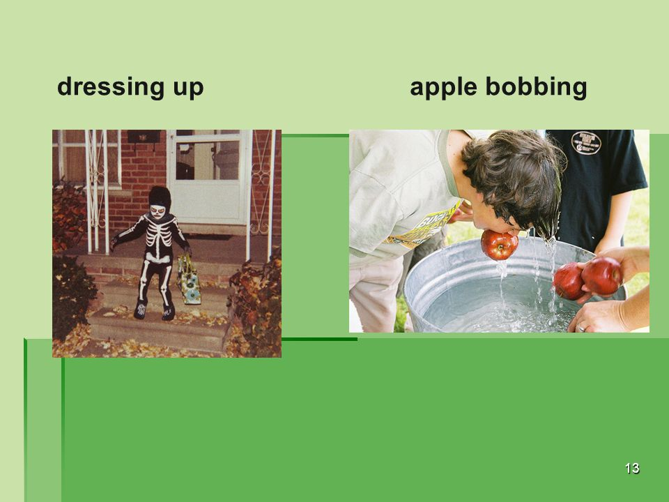 dressing up apple bobbing