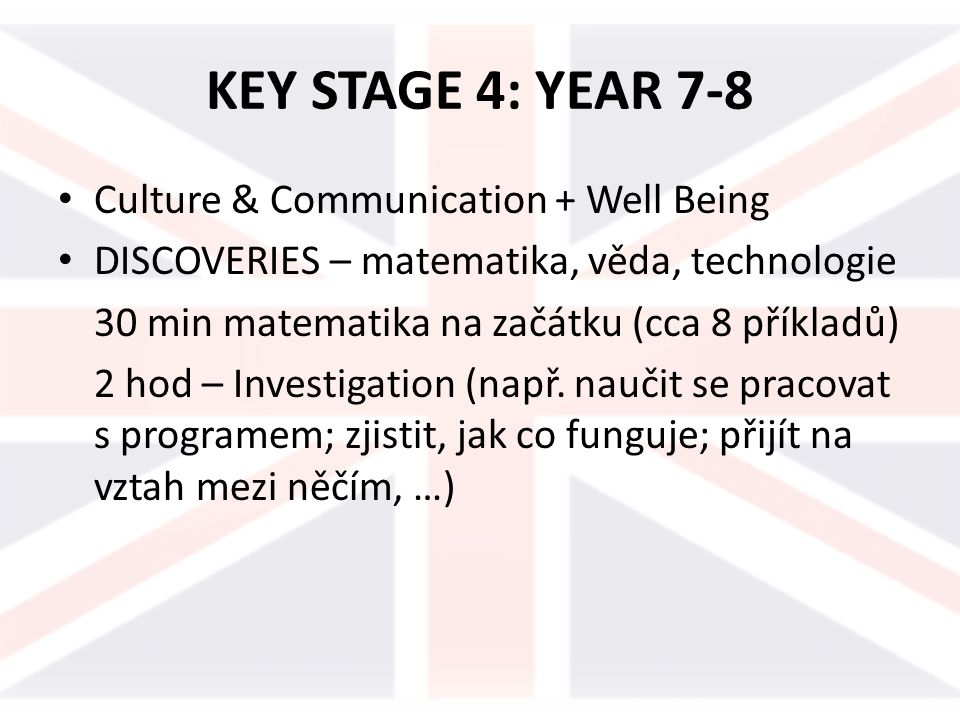 KEY STAGE 4: YEAR 7-8 Culture & Communication + Well Being