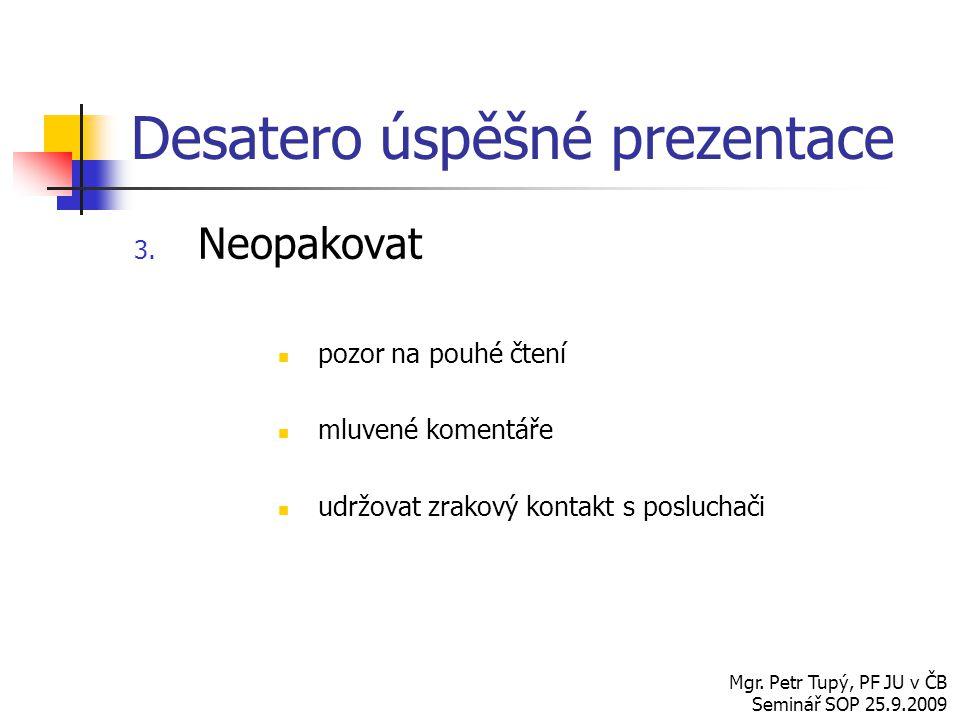 Desatero úspěšné prezentace