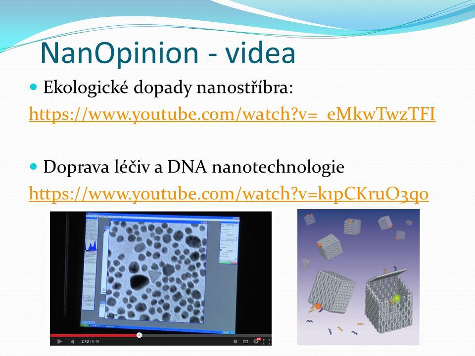 NanOpinion - videa Ekologické dopady nanostříbra: