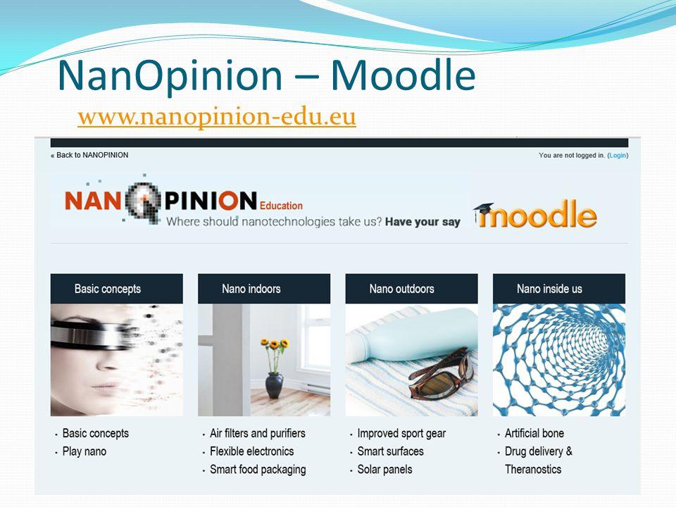 NanOpinion – Moodle www.nanopinion-edu.eu