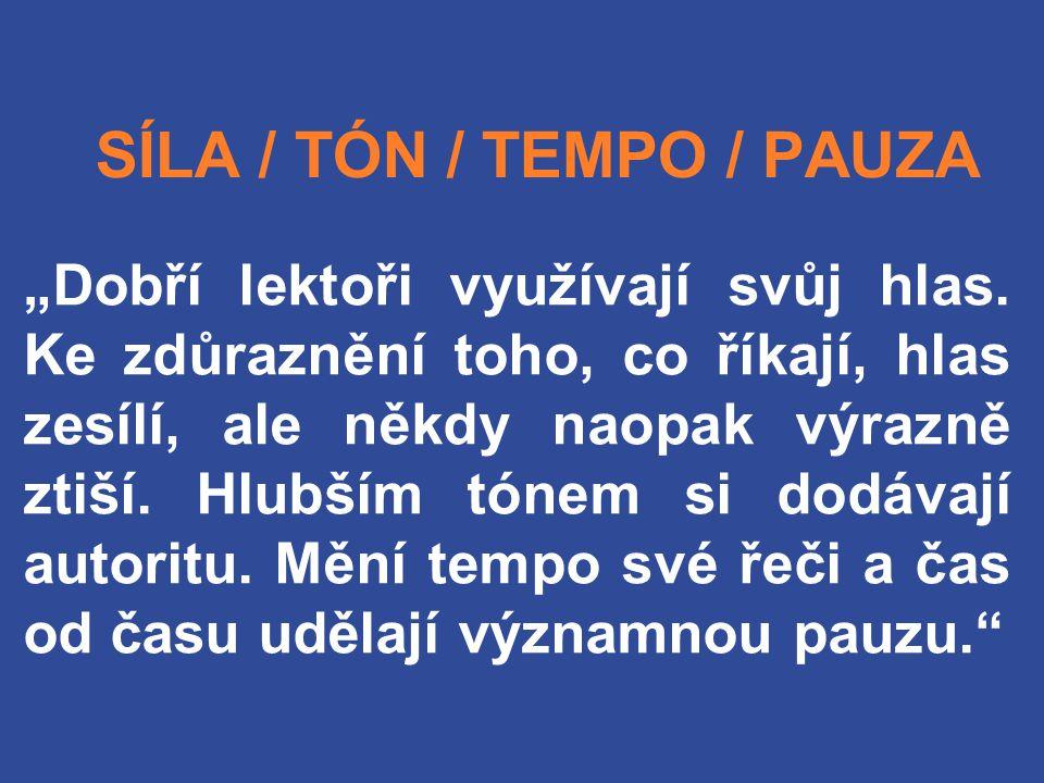 SÍLA / TÓN / TEMPO / PAUZA