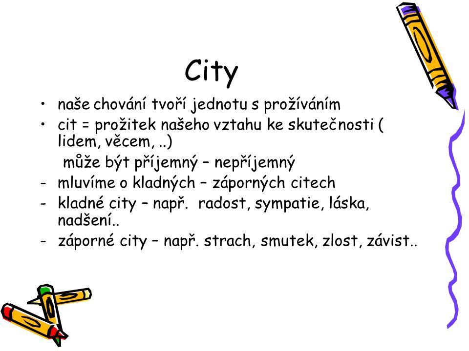 City naše chování tvoří jednotu s prožíváním