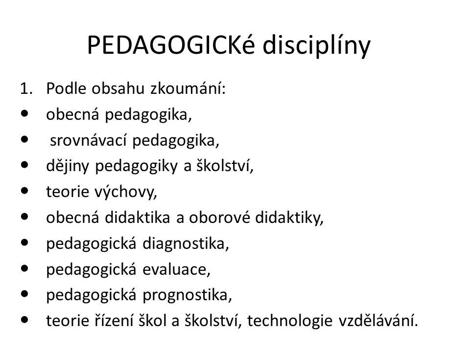 PEDAGOGICKé disciplíny