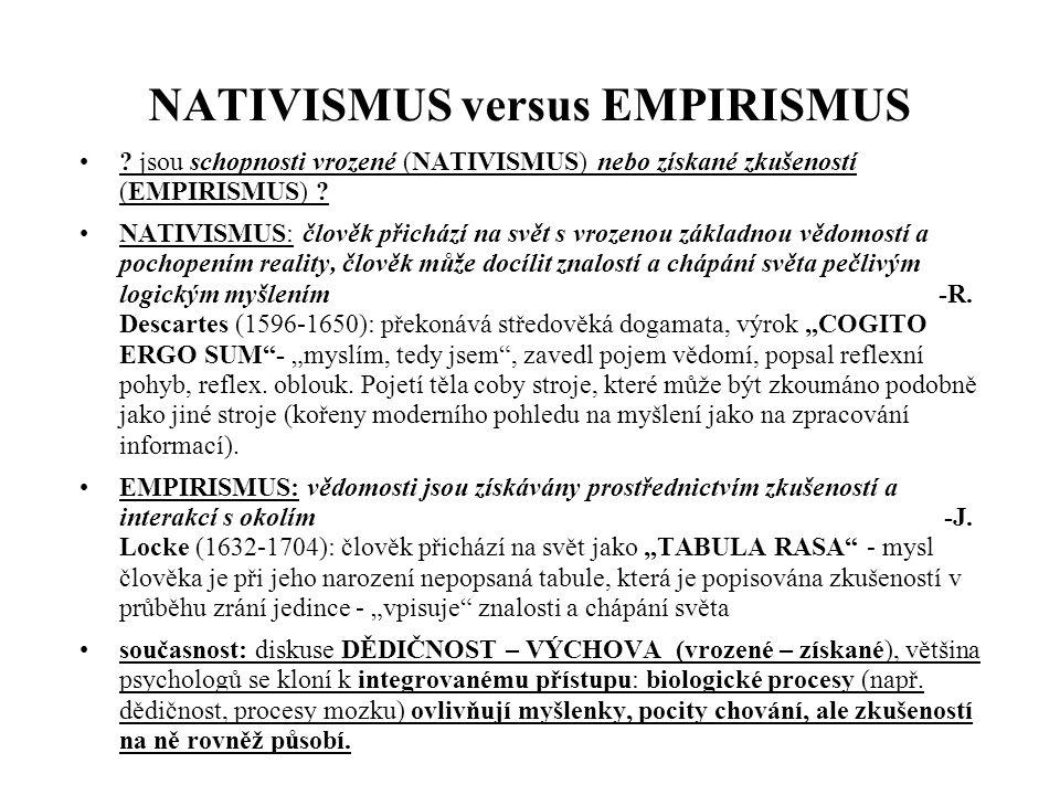 NATIVISMUS versus EMPIRISMUS