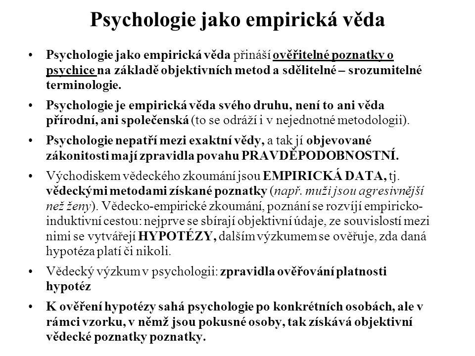 Psychologie jako empirická věda
