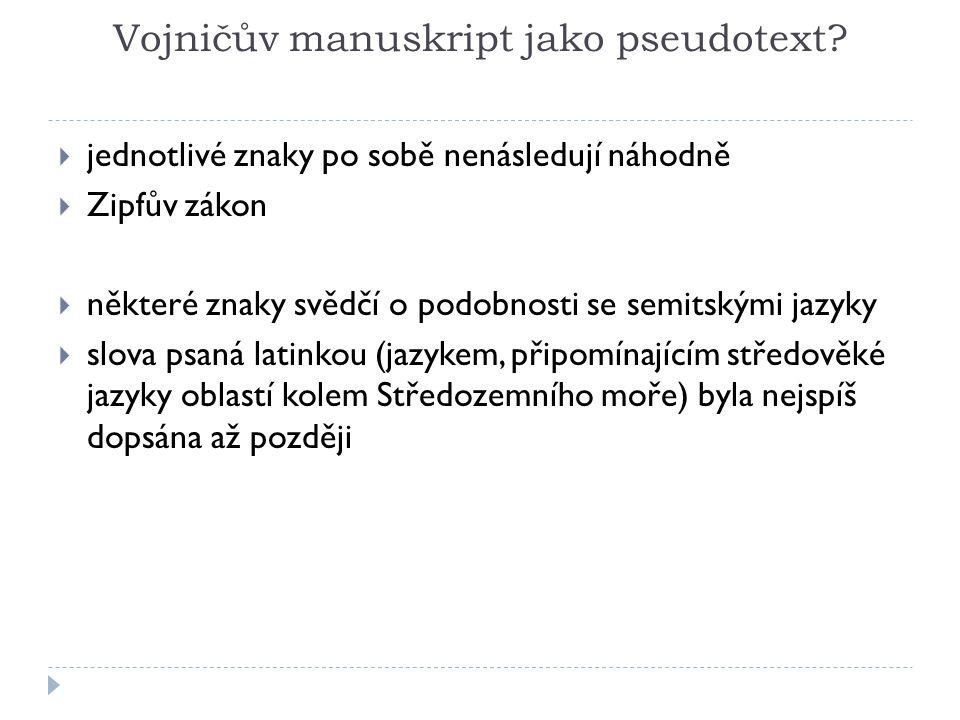 Vojničův manuskript jako pseudotext