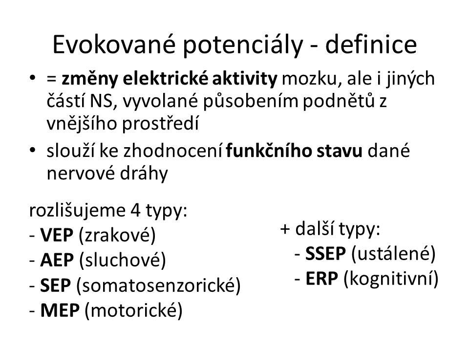 Evokované potenciály - definice