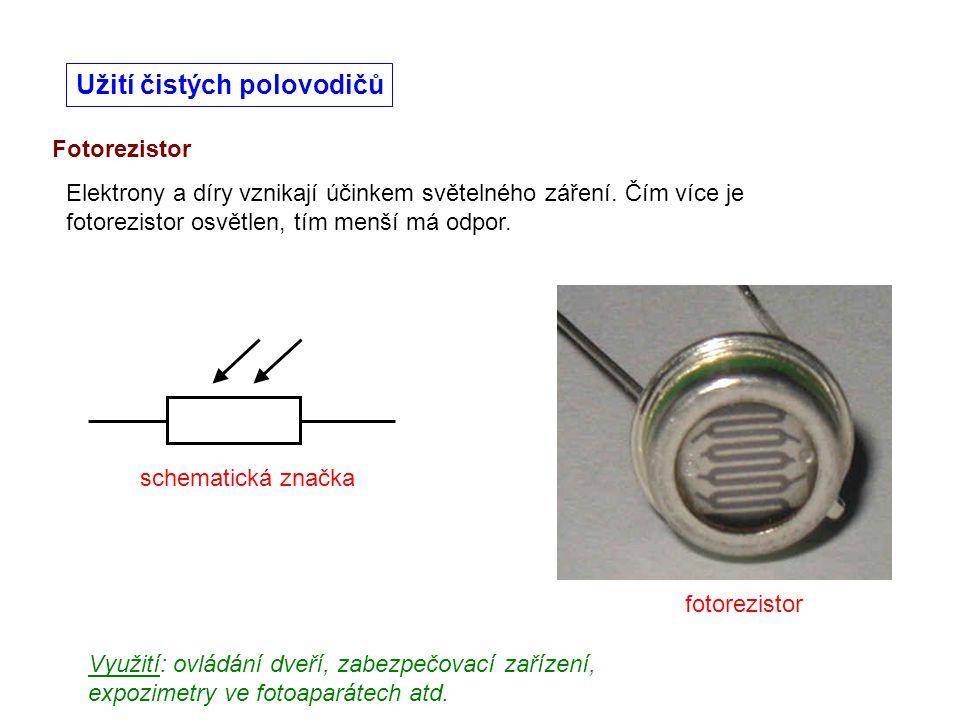 Užití čistých polovodičů