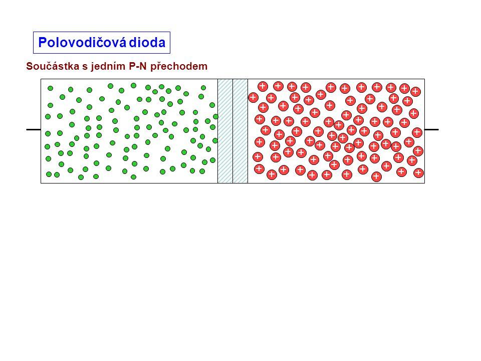 Polovodičová dioda Součástka s jedním P-N přechodem