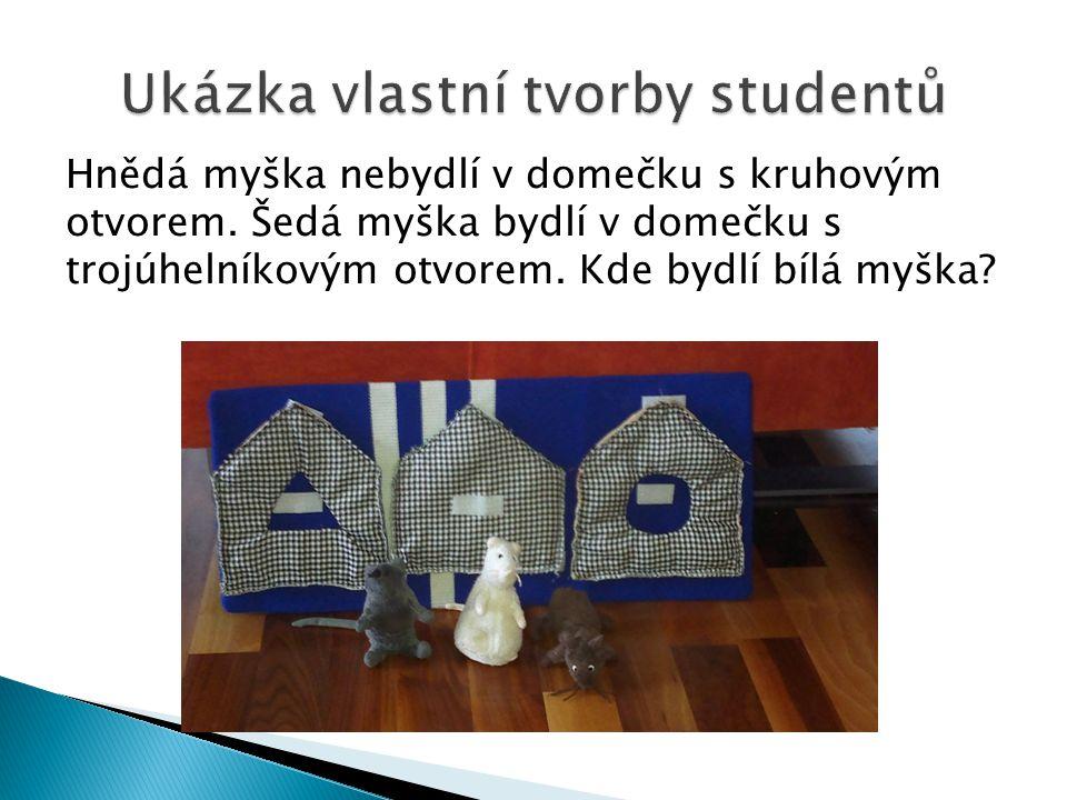 Ukázka vlastní tvorby studentů