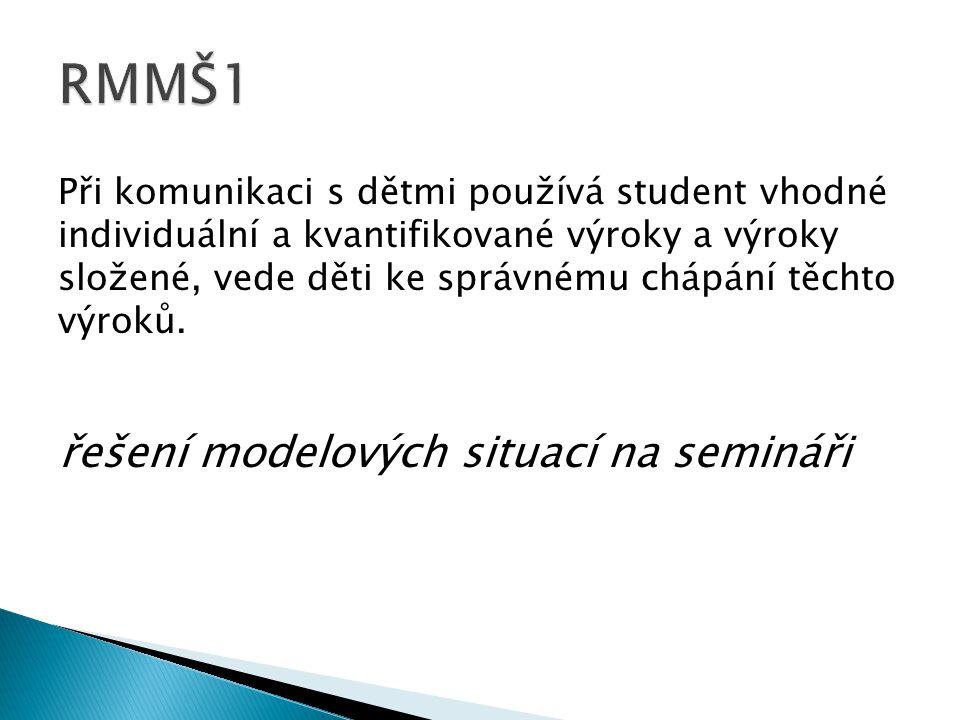 RMMŠ1 řešení modelových situací na semináři