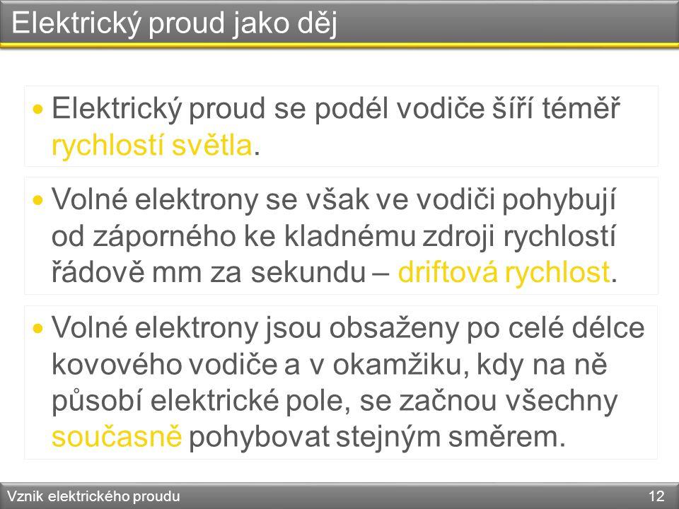 Elektrický proud jako děj