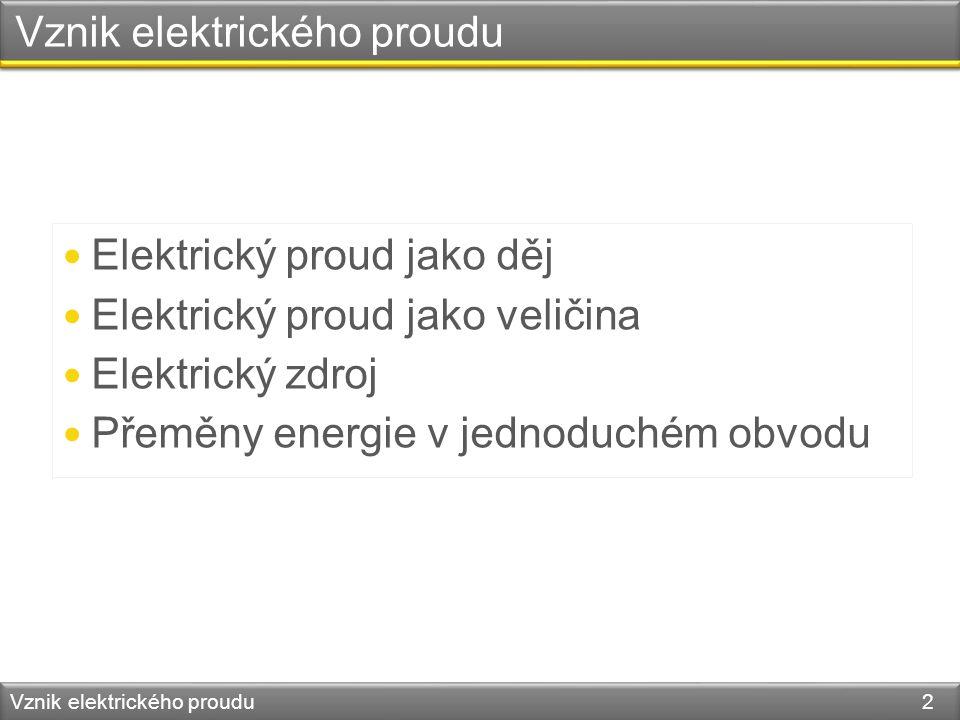 Vznik elektrického proudu