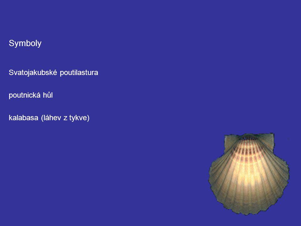 Symboly Svatojakubské poutilastura poutnická hůl