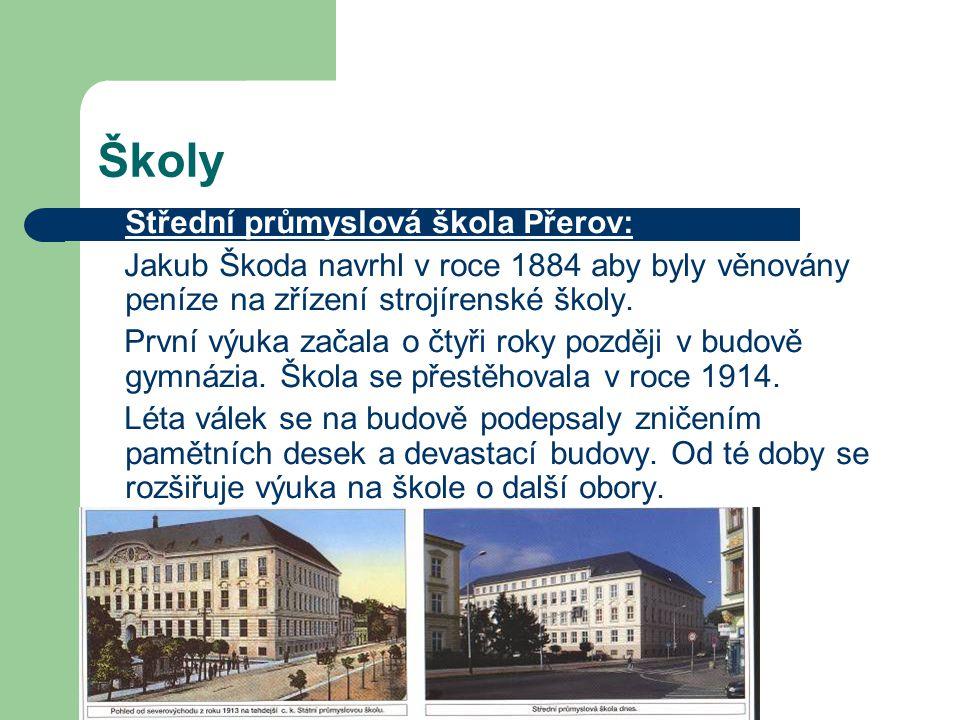 Školy Střední průmyslová škola Přerov:
