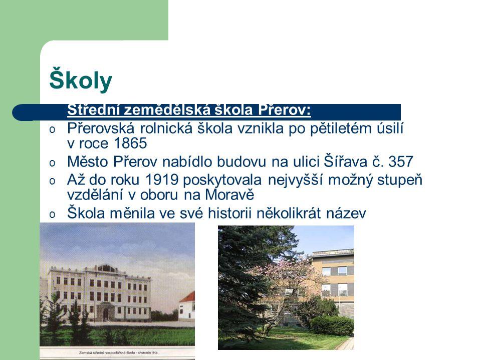 Školy Střední zemědělská škola Přerov: