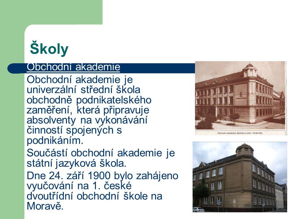 Školy Obchodní akademie