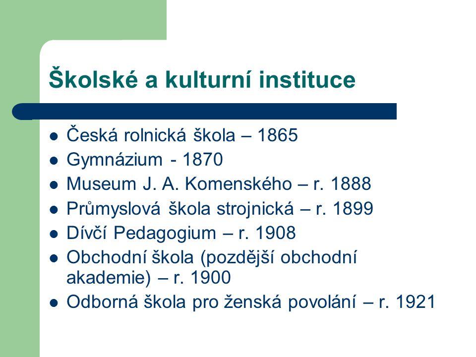 Školské a kulturní instituce